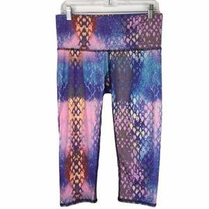 Teeki Cropped Snake Print Yoga Pants size L